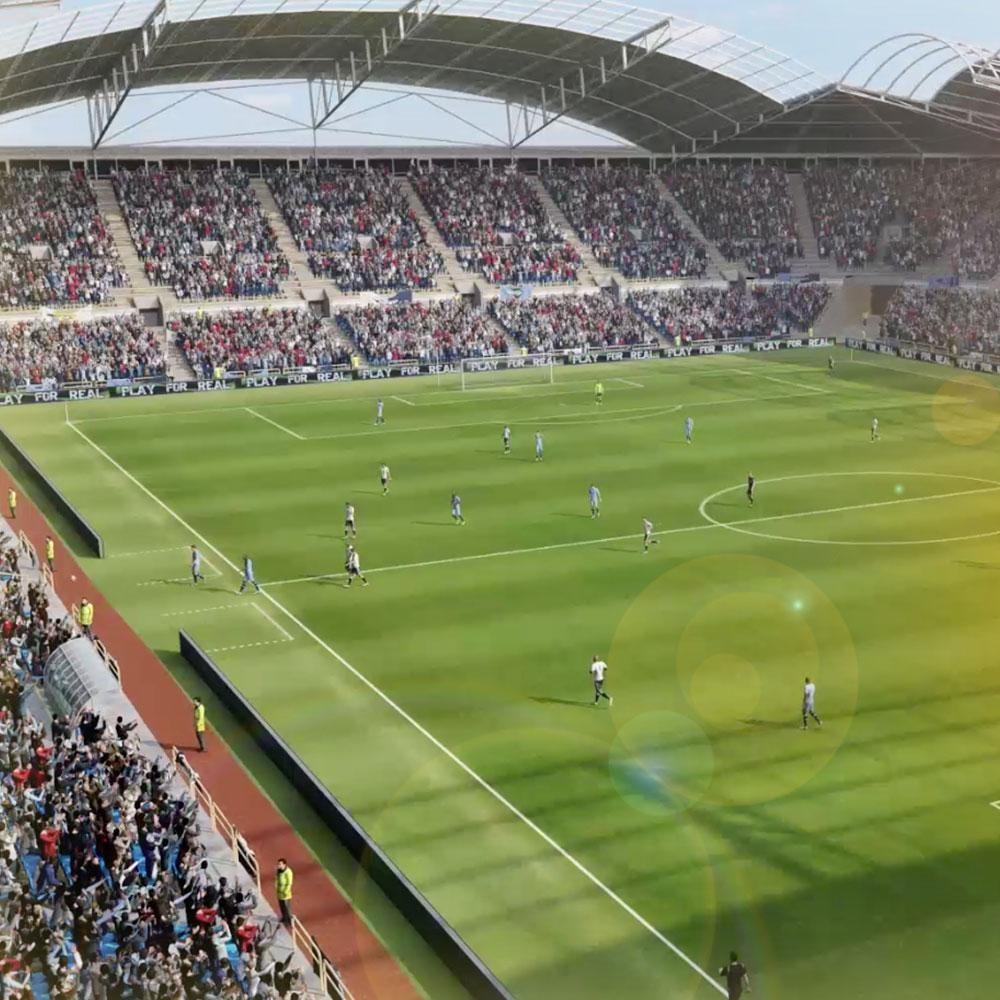 Kuva, joka sisältää kohteen ruoho, rakennus, stadion, ulko  Kuvaus luotu automaattisesti